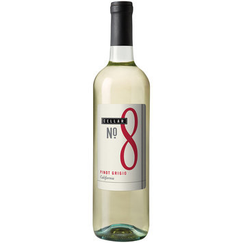 Cellar No. 8 California Pinot Grigio Wine 750mL Glass Bottle
