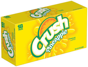 CRUSH Pineapple 12 Oz Soda 18 OZ CANS
