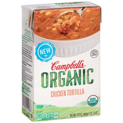 Campbell's® Organic Chicken Tortilla Soup 17 oz. Aseptic Carton