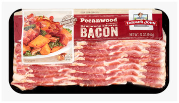 Farmer John® Pecanwood Naturally Hardwood Smoked Bacon 12 oz. Wrapper