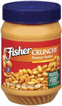 Fisher Peanut Butter Crunchy P28203 Peanut Butter 28 Oz Plastic Jar