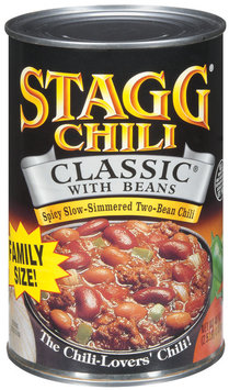 STAGG CHILI Classic W/Beans Family Size Chili 40 OZ CAN