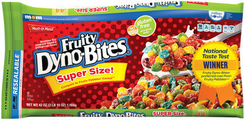 Malt-O-Meal® Fruity Dyno-Bites® Cereal 42 oz. ZIP-PAK®