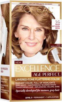 L'Oréal® Paris Excellence® Age Perfect™ Layered-Tone Flattering Color 5G Medium Soft Golden Brown Hair Color Kit