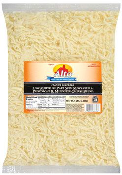 Alto® Part Skim Mozzarella/Provolone/Muenster Shred Cheese 5 Lb Bag