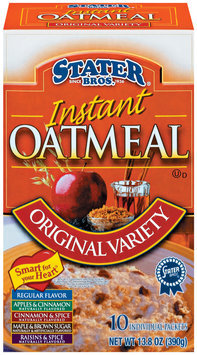 Stater bros Instant Original Variety 10 Ct Oatmeal