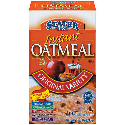 Stater Bros. Instant Original Variety 10 Ct Oatmeal 13.8 Oz Box