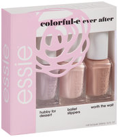 Essie® Colorful-E Ever After Kit The Perfect Kit for Any Occasion--Hubby for Dessert Mini, Ballet Slippers Mini, and Worth the Wait Mini 3-5mL Bottles