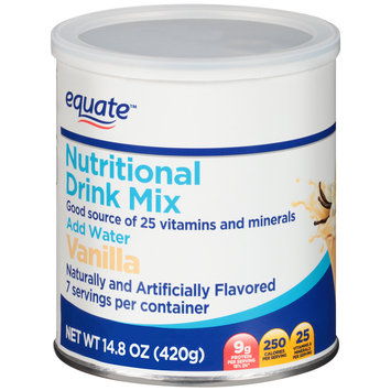 Equate™ Vanilla Nutritional Drink Mix 14.8 oz. Canister