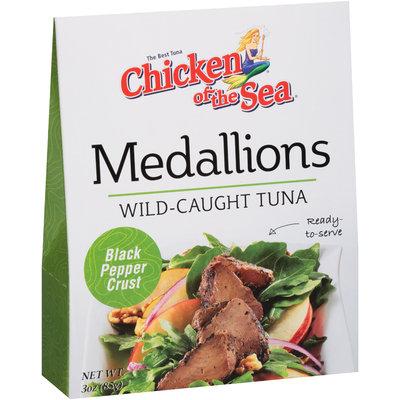 Chicken of the Sea® Medallions Black Pepper Crust Wild-Caught Tuna 3 oz. Box