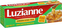 Luzianne® Decaffeinated Green Iced Tea 24 ct. Bag.