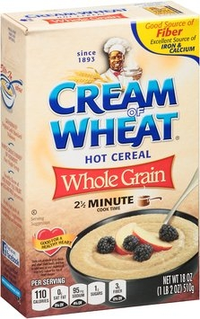 Cream of Wheat® Whole Grain Hot Cereal 18 oz. Box