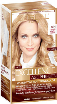 L'Oréal® Paris Excellence® Age Perfect™ Layered-Tone Flattering Color 8N Medium Natural Blonde 1 Kit