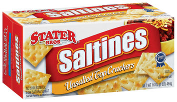 Stater Bros. Saltines Unsalted Top  Crackers 16 Oz Box
