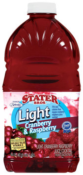 Stater Bros. Light Cranberry & Raspberry Juice Cocktail 2 Qt Plastic Bottle