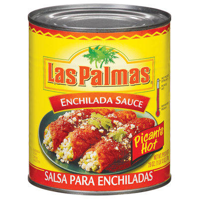 Las Palmas Picante Hot Enchilada Sauce 28 Oz Can