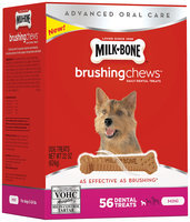 Milk-Bone Brushing Chews Daily Dental Treats - Mini - 22-Ounce - 56 Bones