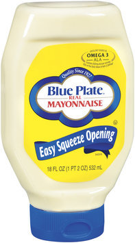 Blue Plate Real Easy Squeeze Opening Mayonnaise 18 Oz Squeeze Bottle