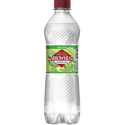 Arrowhead Sparkling Mountain Spring Water Lime