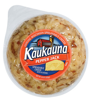 Kaukauna Pepper Jack Spreadable Cheeseball 10 Oz