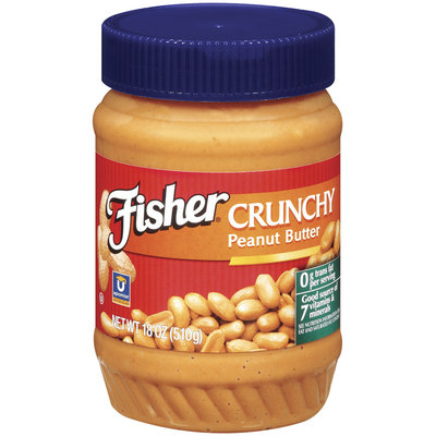 Fisher Peanut Butter Crunchy Peanut Butter 18 Oz Plastic Jar