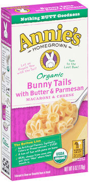 Annie's Homegrown® Bunny Tails with Butter & Parmesan Macaroni & Cheese 6 oz. Box