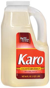 Karo Light W/Real Vanilla Corn Syrup 64 Fl Oz Plastic Jug