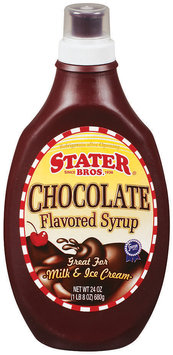 Stater Bros. Chocolate Flavored Syrup 24 Oz Squeeze Bottle