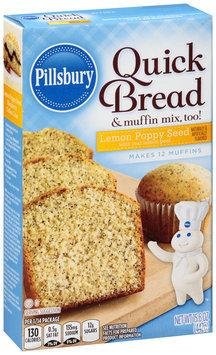 Pillsbury Lemon Poppy Seed Quick Bread & Muffin Mix, Too! 15.6 oz. Box