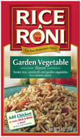 Rice-A-Roni Garden Vegetable Rice Pasta Mix 5.8 Oz Box