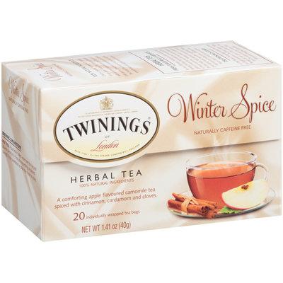 Twinings Of London® Herbal Tea Winter Spice 20 Ct Tea Bags 1.41 Oz Box
