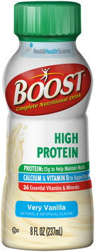 Boost® High Protein Very Vanilla Complete Nutritional Drink 8 fl. oz. Box
