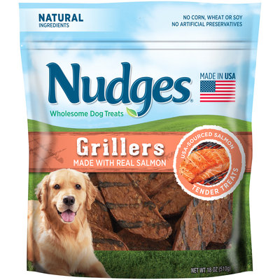 Nudges® Salmon Grillers Wholesome Dog Treats 18 oz. Bag