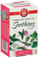 Teekanne Soothing Triple Mint Tranquility Caffeine Free 1.41 Oz Tea Bags 20 Ct Box