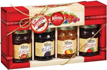 Knott's Berry Farm Assorted Gift Set 8 Oz Fine Jams Jellies & Preserves 4 Ct Box