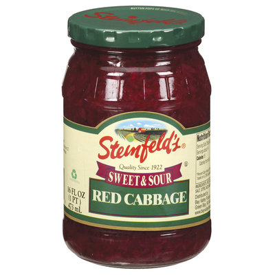 Steinfeld's Sweet & Sour Red Cabbage 16 Fl Oz Jar