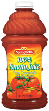 Springfield 100% Tomato from Concentrate Juice 64 Fl Oz Plastic Jug