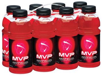 Schnucks Mvp Fruit Punch 20 Oz Electrolye Beverage 8 Pk Plastic Bottles