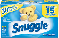 Snuggle® Blue Sparkle® Fabric Softener Dryer Sheets 135 ct Box