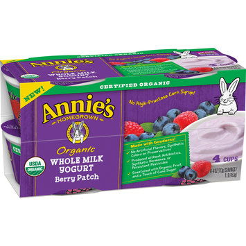 Annie's® Berry Patch Organic Whole Milk Yogurt 4-4 oz. Cups