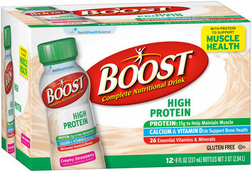 Boost® High Protein Creamy Strawberry Complete Nutritional Drink 12-8 fl. oz. Box