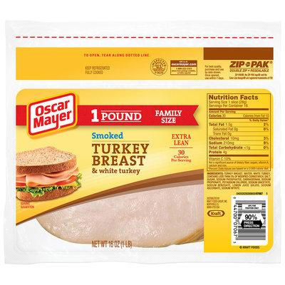 Oscar Mayer Smoked Turkey Breast Cold Cuts 16 oz. ZIP-PAK®