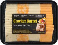 Cracker Barrel Pepper Jack, Cheddar Jack, Asiago & Extra Sharp Cheddar Cracker Cuts 48 ct Tray