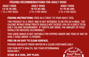 Purina Busy Bone Small/Medium Dog Treats 10 ct Bag