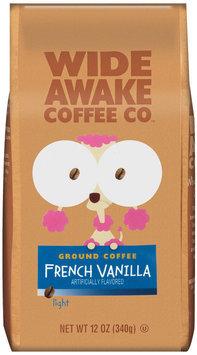 Wide Awake Coffee Company French Vanilla Light Ground Coffee 12 Oz Stand Up Bag