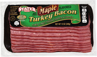 Stater Bros.® Wood Smoked Maple Flavored Turkey Bacon 12 oz. Pack