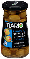 Mario® Pimiento Stuffed Spanish Manzanilla Olives 5.75 oz. Jar