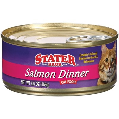 Stater Bros. Salmon Dinner Cat Food 5.5 Oz Can