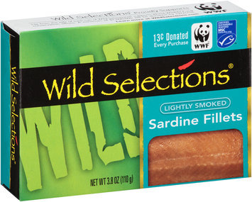 Wild Selections® Lightly Smoked Sardine Fillets 3.8 oz. Box