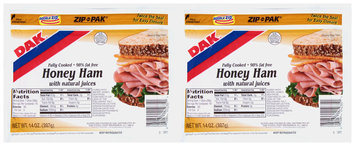 Dak® Honey Ham with Natural Juices 2-14 oz. ZIP-PAK®